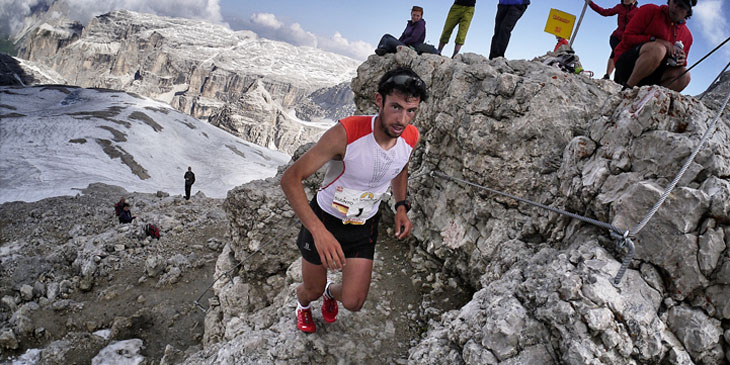 Kilian nears the Biz Boè summit. © Ian Corless