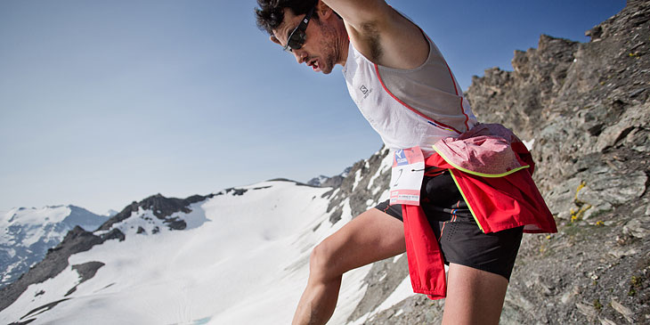 Kilian in action, Ice Trail Tarentaise. © Jordi Saragossa