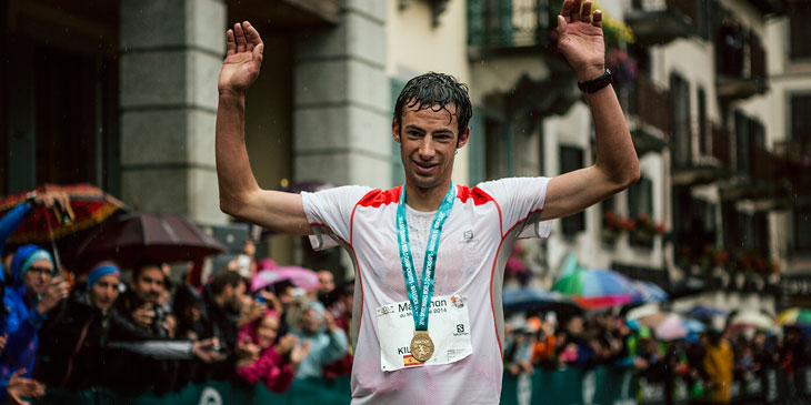 Kilian takes the gold for the Sky, VK , combined and for his country, Spain. © Jordi Saragossa