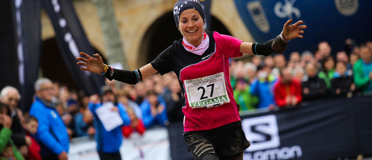 Elisa Desco, Compressport athlete, 2nd at Zegama. (c) iancorless.com