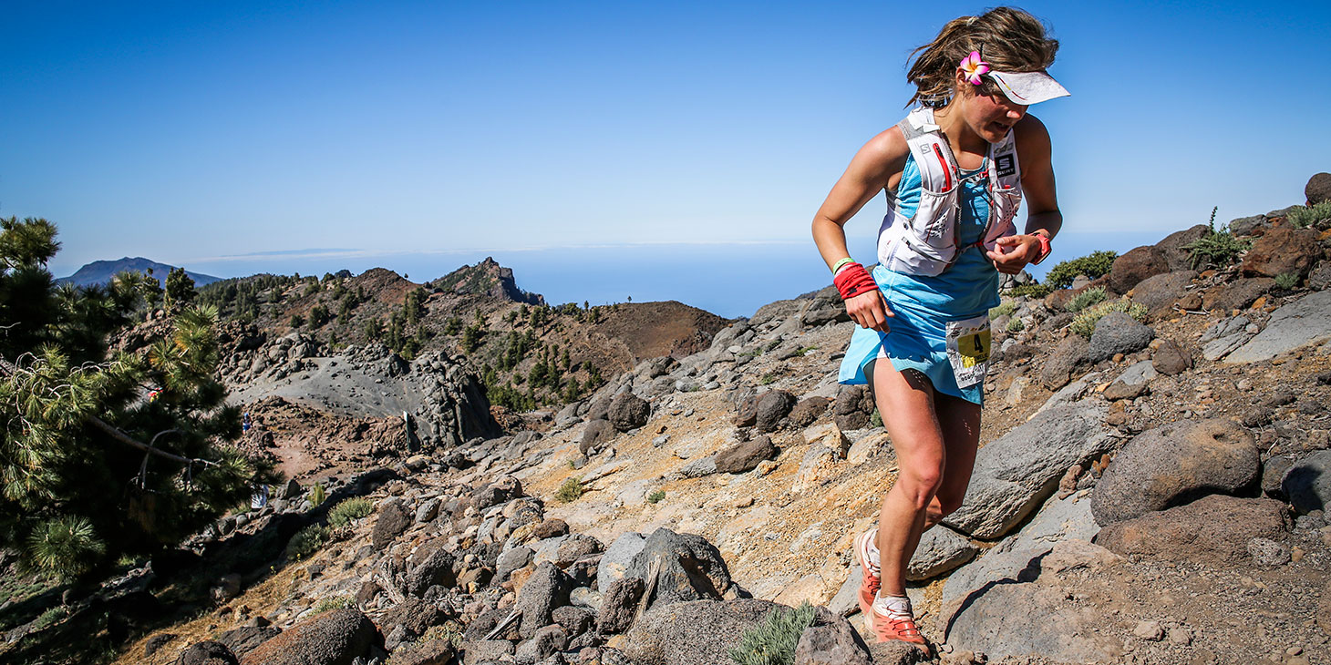 Emelie Forsberg, 2015 Transvulcania winner and Ultra Series leader. ©iancorless.com