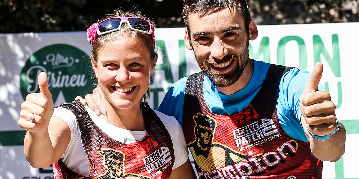 Ultra Champs pic. Ultra Series champions Emelie Forsberg and Luis Alberto Hernando. ©iancorless.com