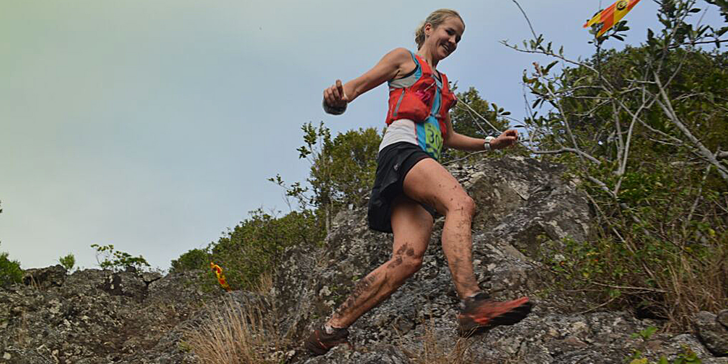 Landie Greyling takes the gold for S Africa, Dodo Trail. (c)Dominique Chelin
