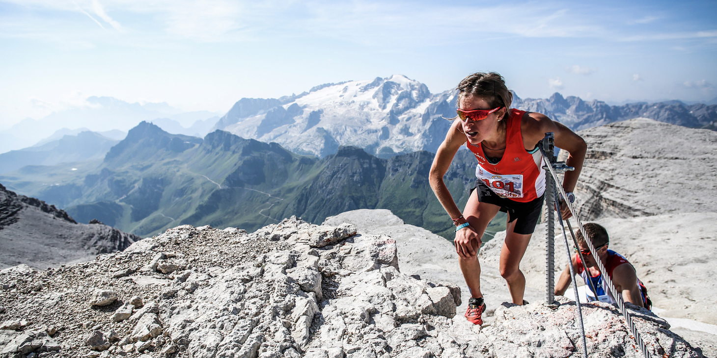 Laura Orguè, 2nd Dolomites SkyRace. (c)iancorless.com