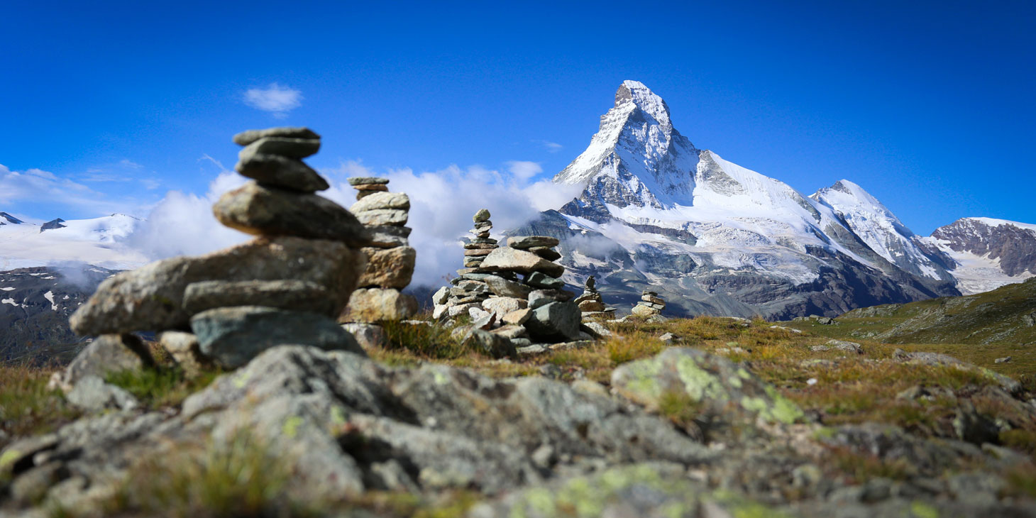 The course at the foot of the Matterhorn. ©iancorless.com