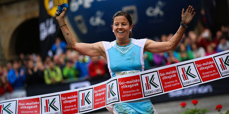 Zegama winner Stevie Kremer. © Ian Corless