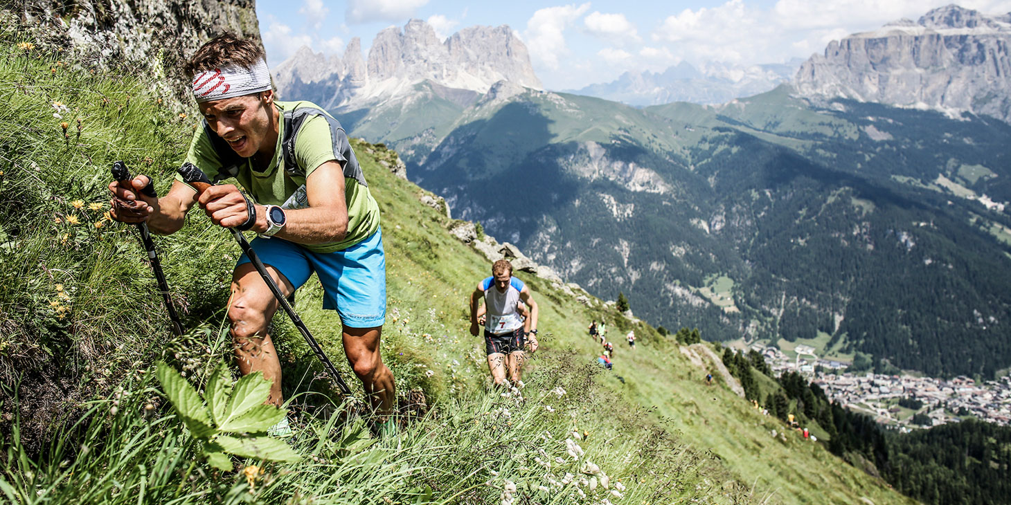 Alexis Sevennec, SCOTT Running, 11th in the VK & 6th, Dolomites SkyRace. ©iancorless