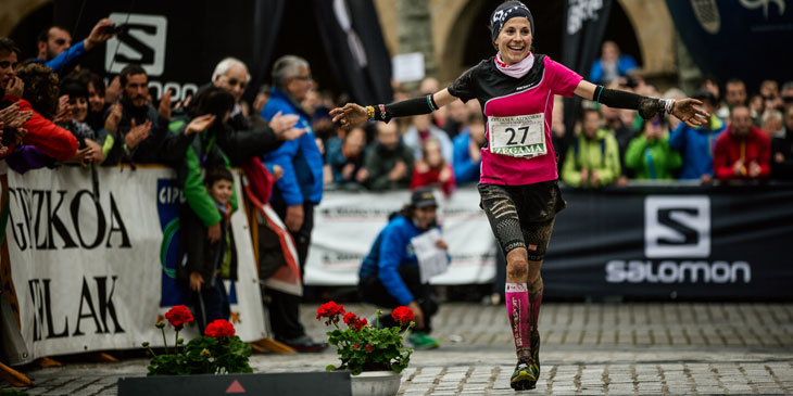 Elisa Desco, Compressport athlete, 2nd at Zegama. ©iancorless.com