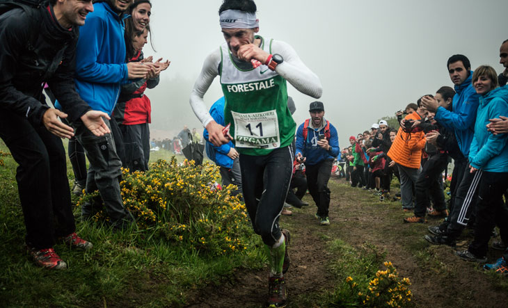 Marco De Gasperi, Compressport athlete, 2nd at Zegama. ©Jordi Saragossa